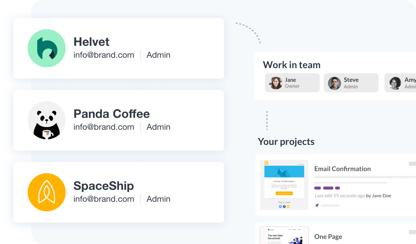 Manage & organize multiple customer projects